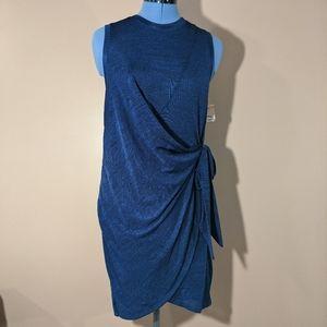 Rachel Roy Sleeveless Mini Faux Wrap Dress